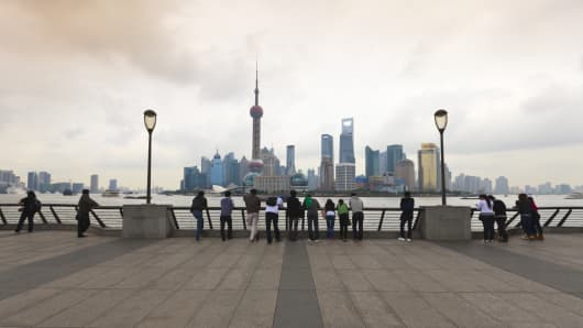 Pudong skyline, Shanghai, China