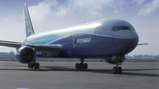 Boeing 767 jet.