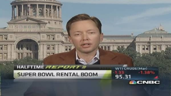 Rental boom near Super Bowl in NJ