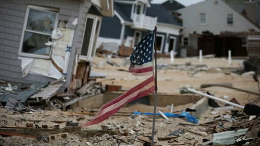 Superstorm Sandy hits Ortley Beach, New Jersey