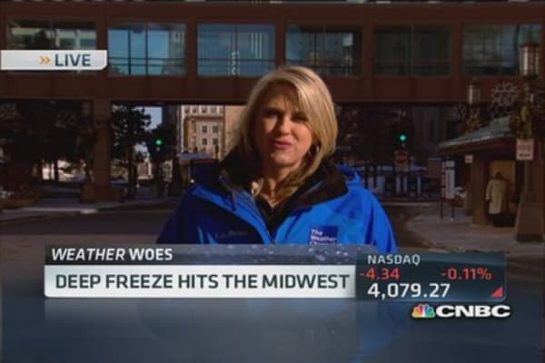 Deep freeze hits Midwest