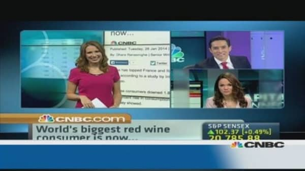 China beats France as top red wine consumer