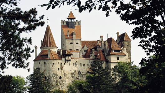 "Bran Castle in Romania, also known as ""Dracula's Castle"""