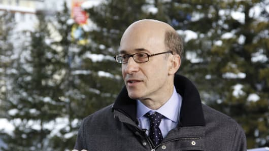 Kenneth Rogoff in Davos, Switzerland.