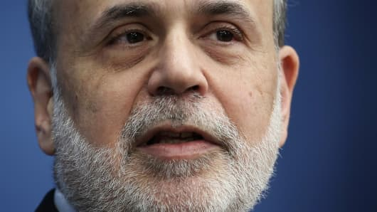 Ben Bernanke addresses the Brookings Institution on Jan. 16.