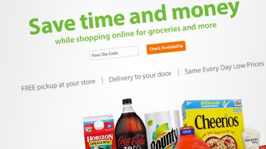 Walmart To Go webpage