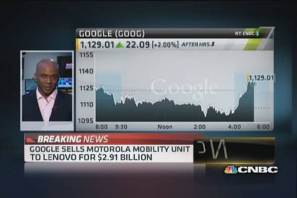 Google sells Motorola Mobility Unit to Lenovo