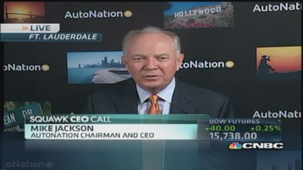 AutoNation CEO: Detroit 3 inventory over 100-day supply