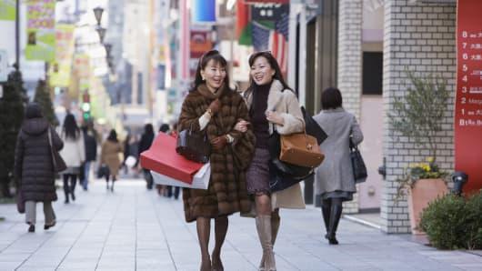 Premium Asian women shopping bags