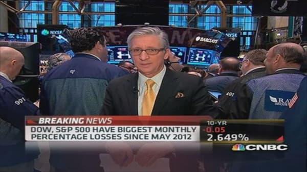 Pisani's market open: Weak across the board