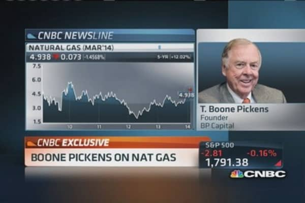 T. Boone Pickens: Long natural gas