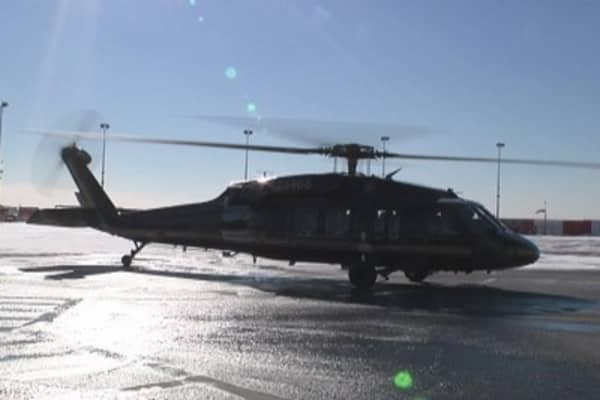 Blackhawks patrolling Super Bowl skies