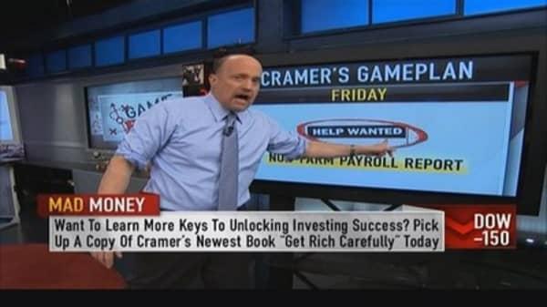 Employment number could tamper market: Cramer
