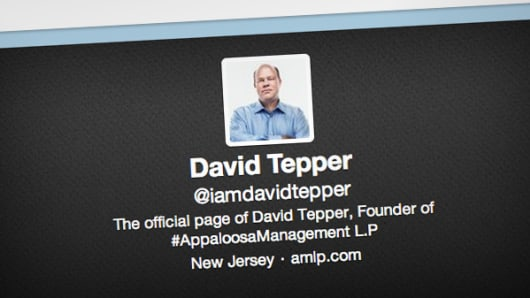 Fake Twitter account of David Tepper