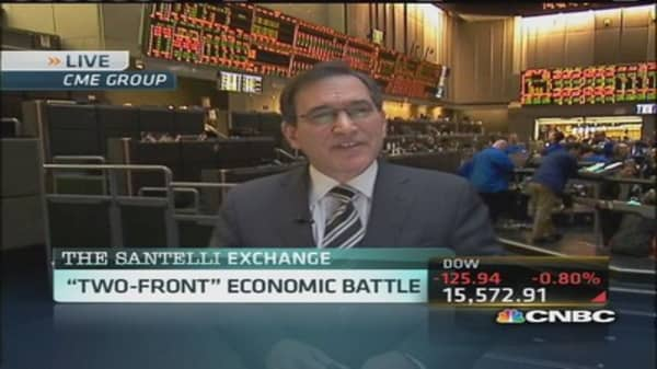 Santelli Exchange: 'Two-front' economic battle