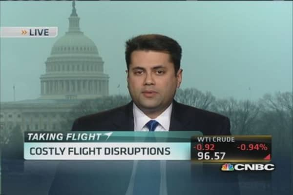 Costly flight disruptions