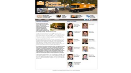 Orange University Bus Landing Page