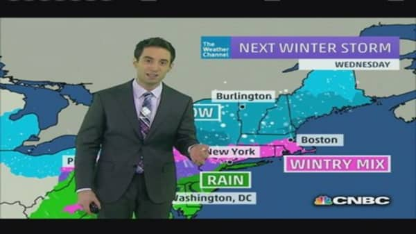 Snow storm slams East Coast