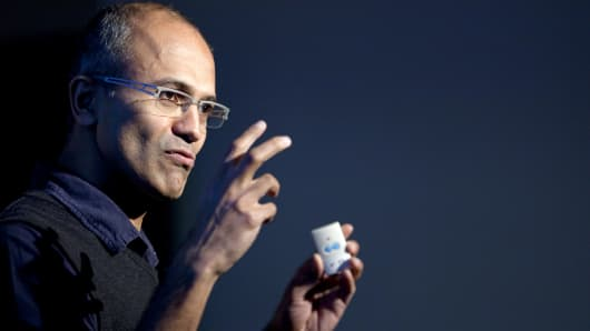 Microsoft names Satya Nadella as CEO.
