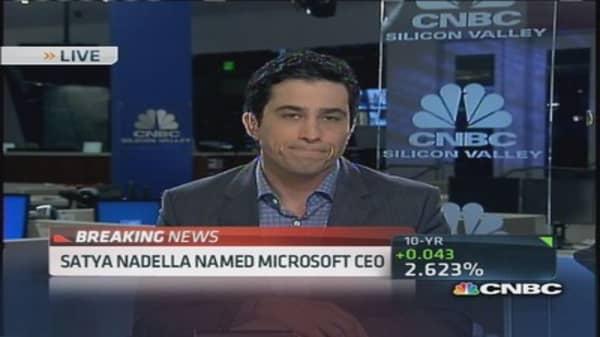 Satya Nadella in charge at Microsoft