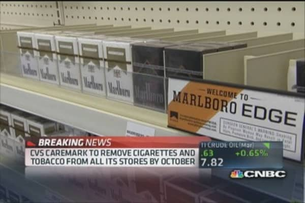 CVS takes tobacco off the shelves