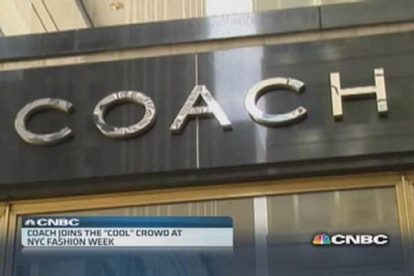 Coach rides to Fashion Week