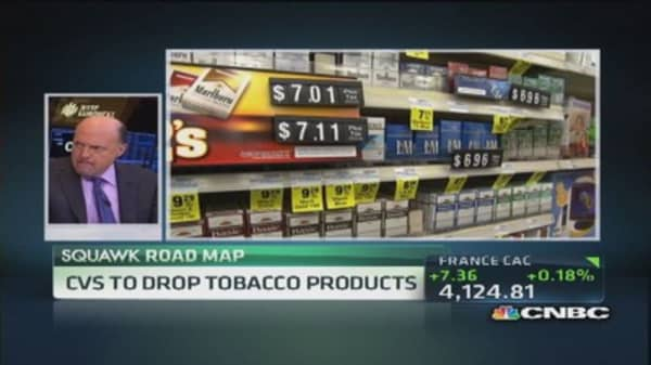 Cramer: Nobody walks out of a drugstore because it sells tobacco