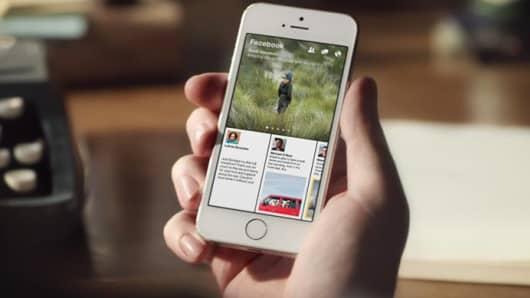 Facebook's Paper mobile app