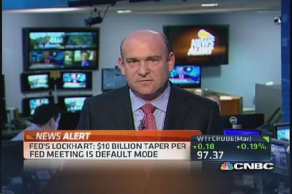 Fed's Lockhart: $10 billion taper is 'default mode'