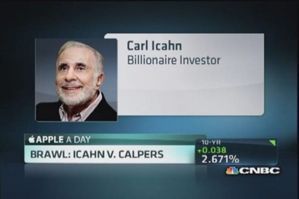 CalPERS criticizes Icahn over Apple's buyback