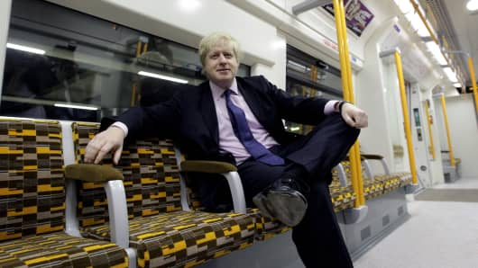 Boris Johnson on the upgraded East London Overground line