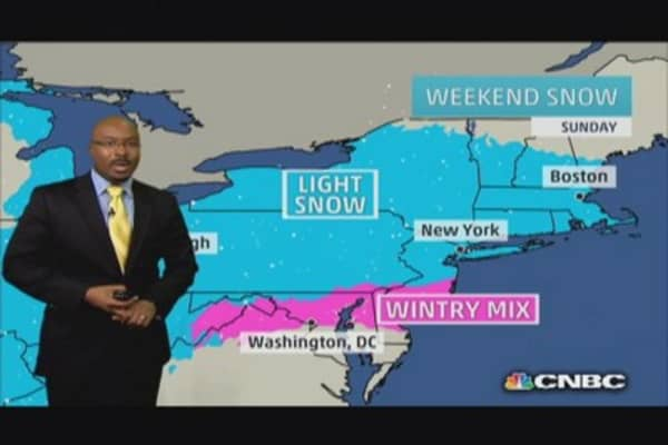 Snow and rain on tap this weekend