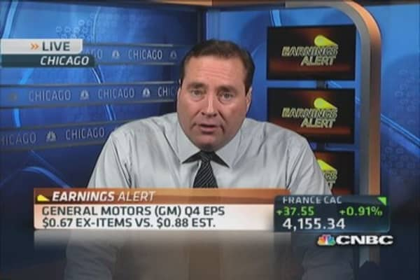 GM earnings miss by a wide margin