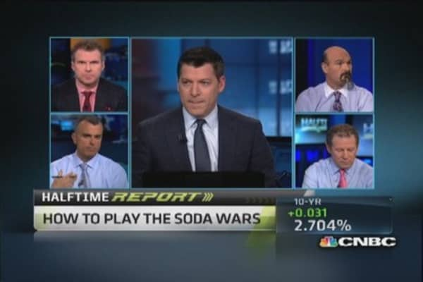 Bail on soda stocks?