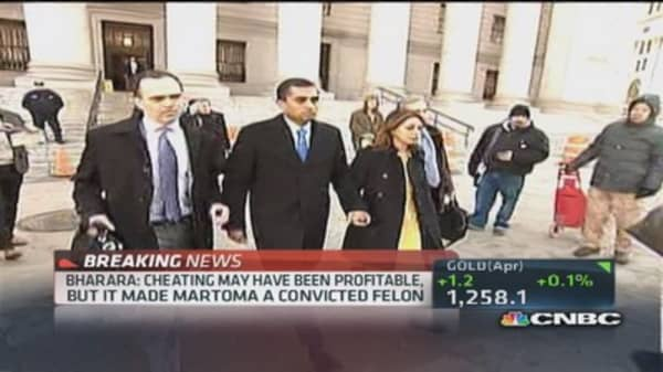 Mathew Martoma leaving courthouse