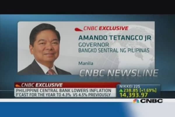 Philippines central bank: Watching inflation closely