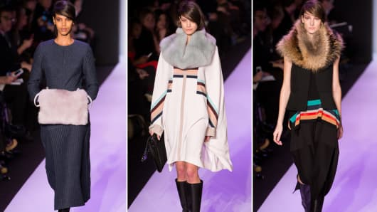 Color block and fur accents stood out at BCBG Max Azria.