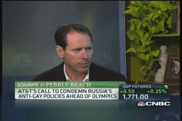AT&T CEO: Russia's anti-gay laws discriminatory