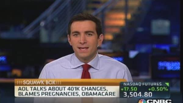 AOL defends 401(k) controversy