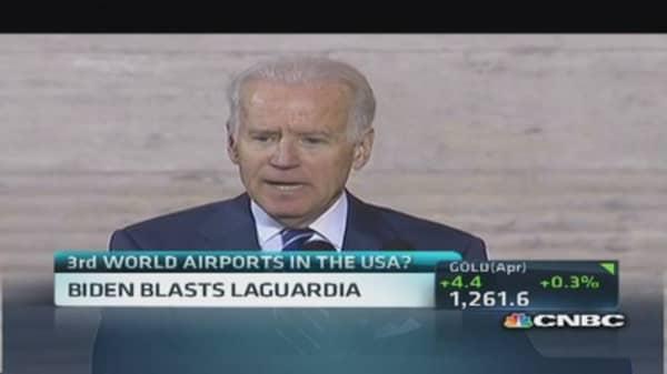Biden blasts LaGuardia