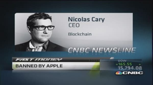 Blockchain banned by Apple