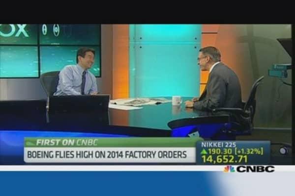 Boeing flies high on passenger traffic, 2014 factory orders