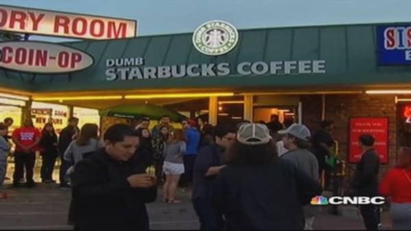 'Dumb Starbucks' says it parodies real Starbucks