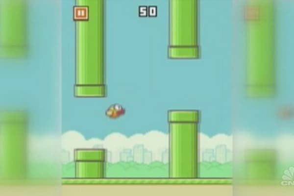 Flappy Bird flies away