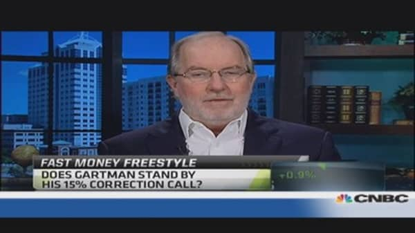 Gartman: Trend line held, didn't think it would