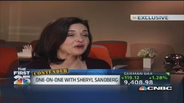 Facebook's Sandberg on main apps and privacy