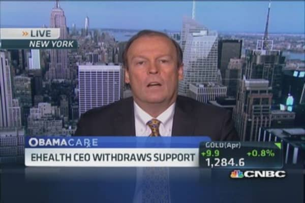 EHealth CEO withdraws support for Obamacare