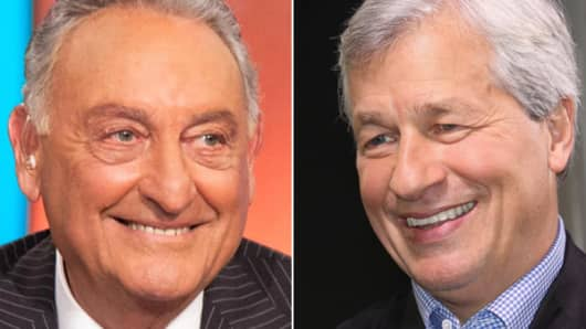 From left: Sandy Weill and Jamie Dimon