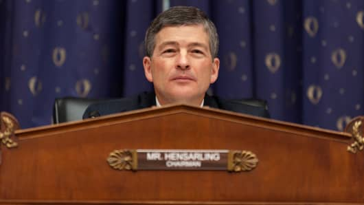 Representative Jeb Hensarling, a Republican from Texas and chairman of the House Financial Services Committee