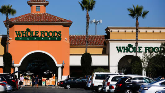 Customers at a Whole Foods Market in El Segundo, California, Nov. 5, 2013.